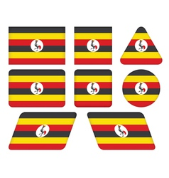 buttons with flag of Uganda vector image