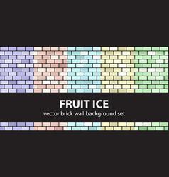 Brick pattern set fruit ice seamless brick vector