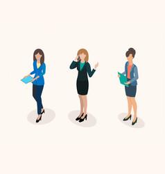 business women office staff vector image
