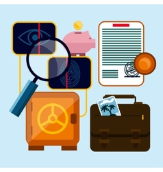 Set of money finance banking icons vector image