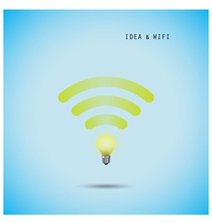 Creative light bulb concept and wifi sign vector