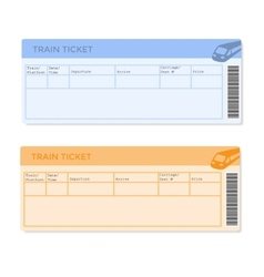 Train tickets in two versions vector