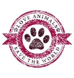 Love Animals vector image