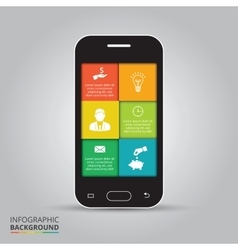 Smart phone infographics vector