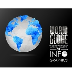 World globe triangular map of the earth vector