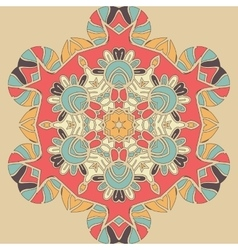 Bright coloured seamless mandala Pink orange and vector image