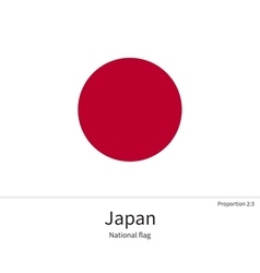 National flag of japan with correct proportions vector