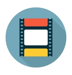 Film strip flat icon vector
