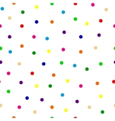 Seamless background of multicolored confetti round vector