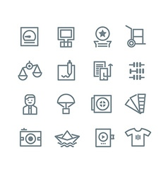 Printing industry icons vector