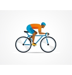 cyclist riding on bicycle vector image