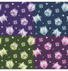 owls patterns vector image
