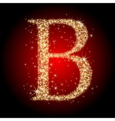 letter star b vector image