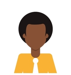 Afro people person icon avatar man vector