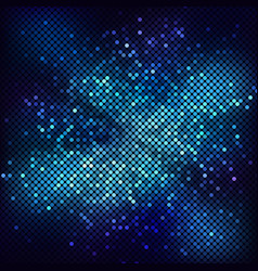 abstract blue background with mosaic vector image
