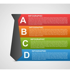 Abstract infographic options banner Design vector image vector image