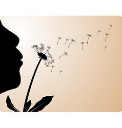 Blowing flower vector
