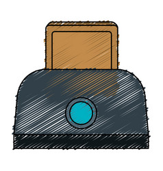 Bread toaster isolated icon vector