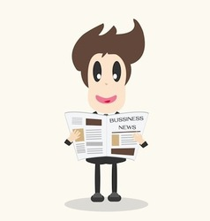 Business news newspaper vector image vector image