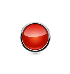 button isolated vector image vector image