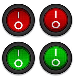 circle toggle power switches vector image vector image