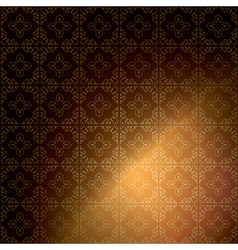 dark brown ornamental background - vintage vector image
