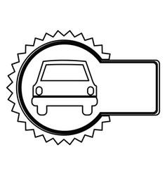 Emblem car front icon vector