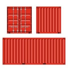 Freight shipping cargo containers vector image vector image