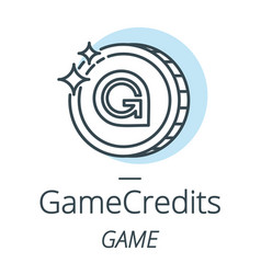 gamecredits cryptocurrency coin line icon of vector image vector image