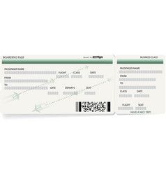Green template of boarding pass ticket vector