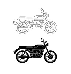 line classic bike vector image vector image