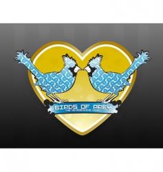 love birds of prey logo vector image