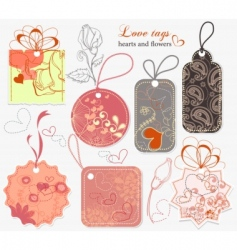 love tags vector image vector image
