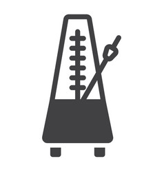 Metronome glyph icon music and instrument vector