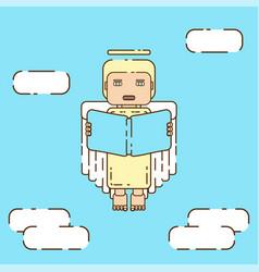 modern angel character vector image