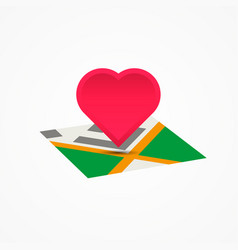 place of date love app icon vector image vector image