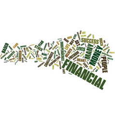 The biggest obstacles to financial success text vector