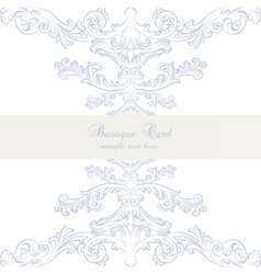 Vintage baroque classic invitation card vector