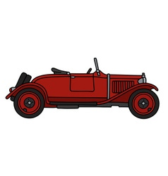 Vintage red roadster vector image