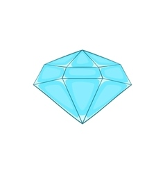 Polished diamond icon cartoon style vector