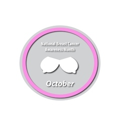 Breast cancer month - october mammary cancer vector