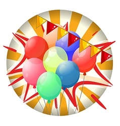 Balloons inside the spinning wheel vector