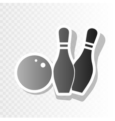 Bowling sign   new year vector