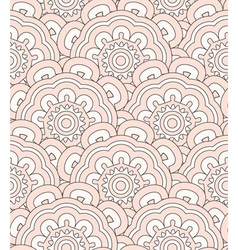 Creamy shell seamless pattern vector image