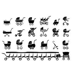 Baby strollers vector