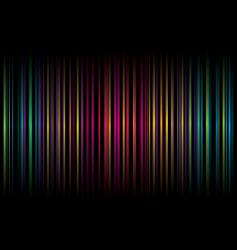 rainbow stripe graphic design vector image