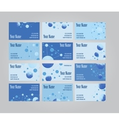 Set of twelve visit cards vector
