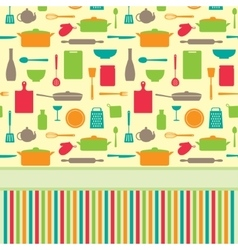 Cute colorful menu template vector image