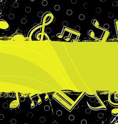 music grunge artwork design vector image