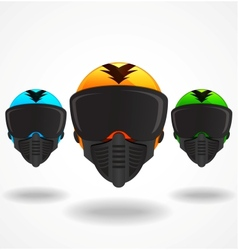 Colored helmets vector image